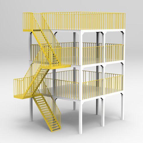 操作平台 设备安放平台 钢结构平台 厂房设计 车间设计